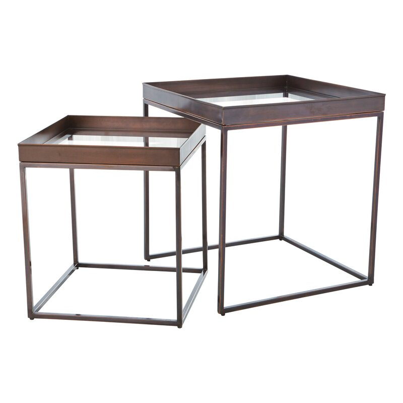 Perfect 2 Piece Nesting Tables Amp Reviews Perigold