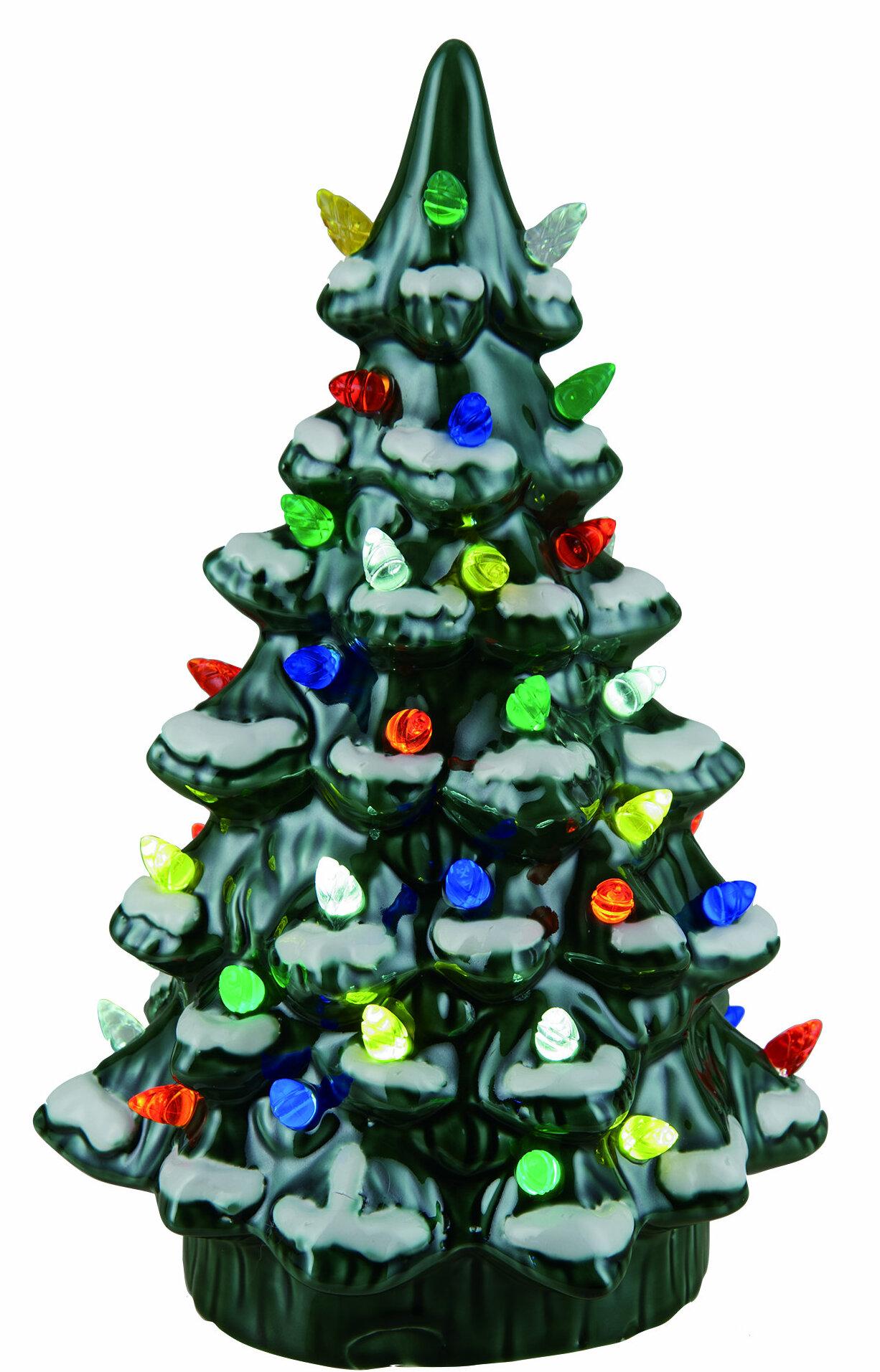 the holiday aisle walter ceramic light up nostalgic tree wayfair - Ceramic Light Up Christmas Tree