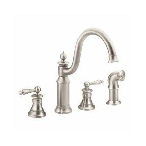 Moen Waterhill Double Handle Kitchen Faucet
