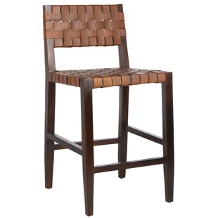 Delaria Woven Leather 24 Bar Stool