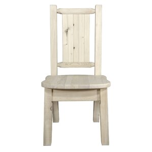 Abella Rustic Solid Wood Dining Chair by Loon Peak
