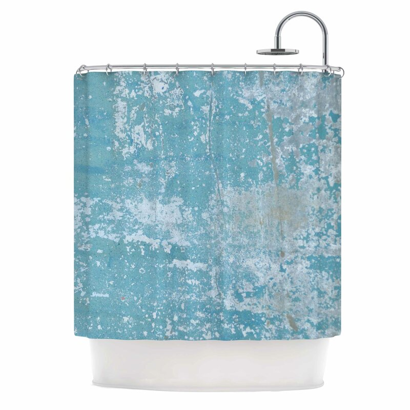 Galvanized Blue Vintage Shower Curtain