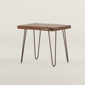 Grandby Acacia Live Edge End Table by World Interiors