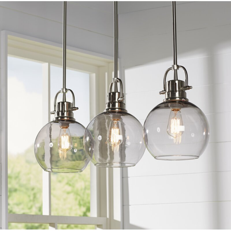 Kitchen Lighting Fixture Sets: Brayden Studio Burner 3-Light Kitchen Island Pendant