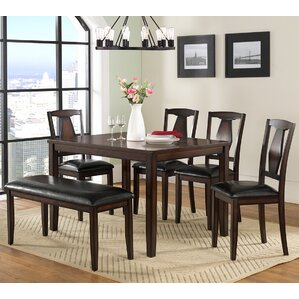 Sedona 6 Piece Dining Set by Vilo Home Inc.
