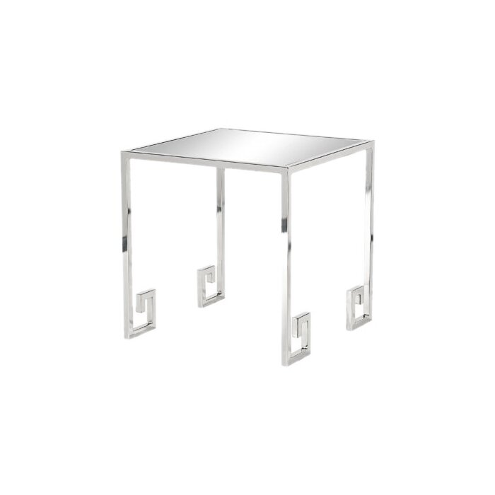 side zoom mirrored crystal table