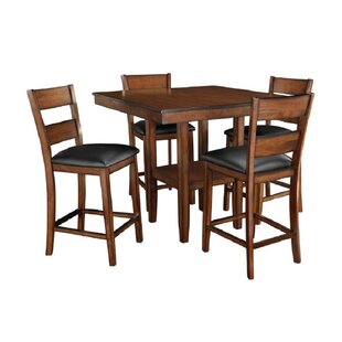 Bauman Pendwood 5 Piece Counter Height Dining Set