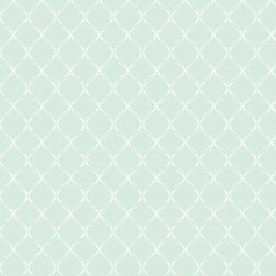 Robin S Egg Removable 5 X 20 Trellis Wallpaper