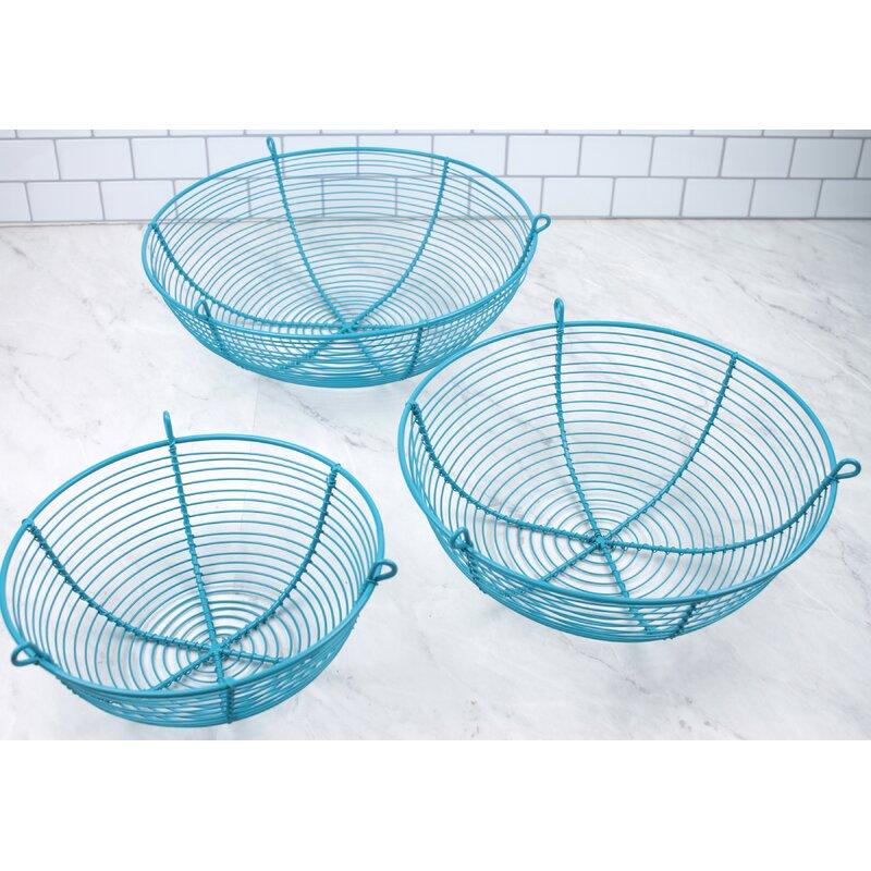 Rebrilliant 3-Tier Hanging Wire Basket | Wayfair