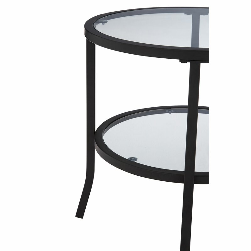 Rosalee Round Side Table With Storage