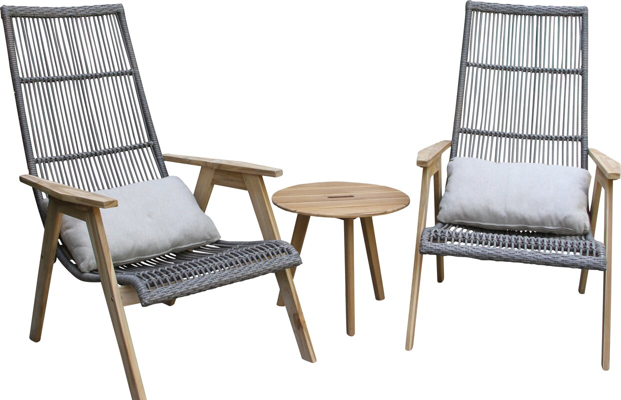 Kennebunkport Teak and Wicker Basket Lounge Chair ...