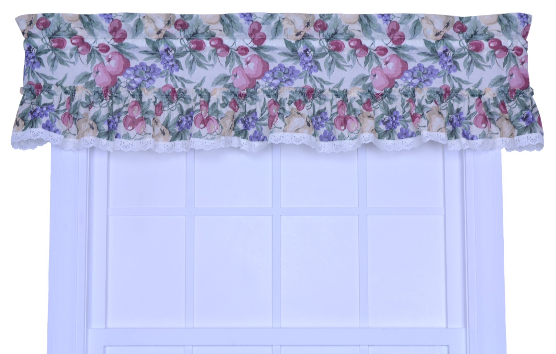 shipping home garden double rod w valance collection on rosetta rt in curtain free orders with jacquard designers inch attached panel pocket product over
