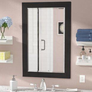beveled edge frameless mirror wayfair