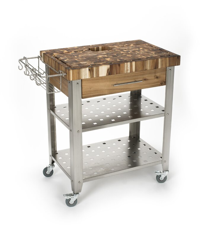 Chris Chris Kitchen Island With Butcher Block Top