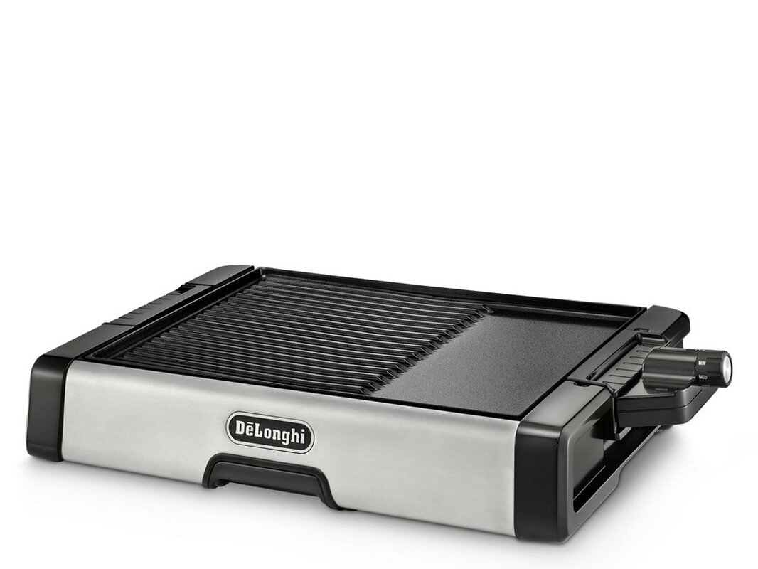 DeLonghi Indoor 2 in 1 Non Stick Ceramic Coated Grill and Griddle