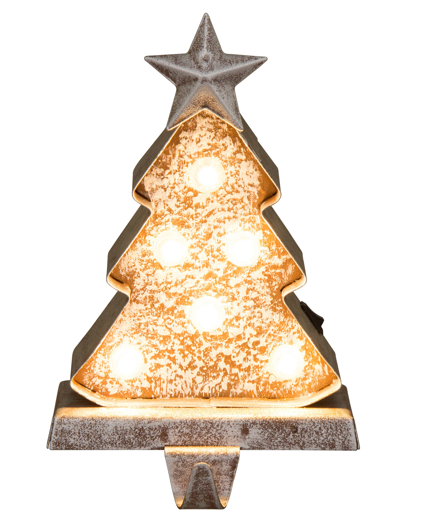 Christmas Tree Stocking Holder.Metal Star Christmas Tree Stocking Holder