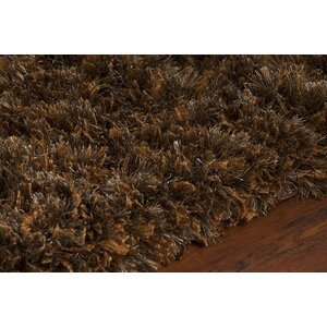 Mairead Textured Shag Brown Area Rug