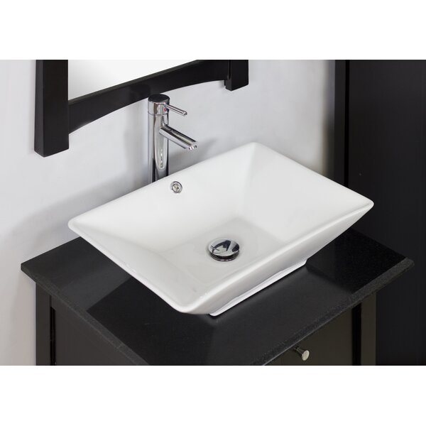 American Imaginations Above Counter Rectangular Vessel Bathroom Sink With Overflow Reviews Wayfair