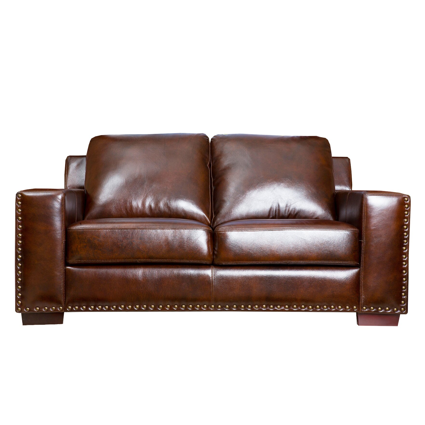Darby Home Co William Leather Sofa And Loveseat Set Reviews