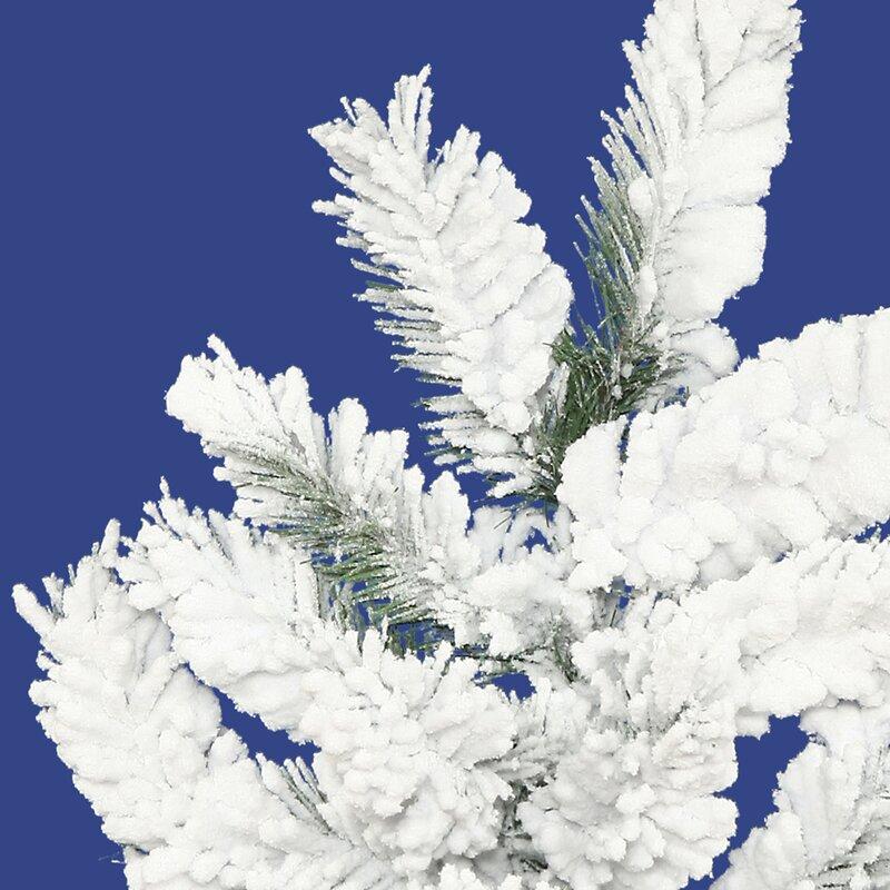 The Holiday Aisle Flocked Alpine 4' Spruce Trees White ...