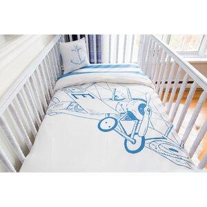 Biplane  Organic Baby Down Duvet 4 Piece Crib Bedding Set