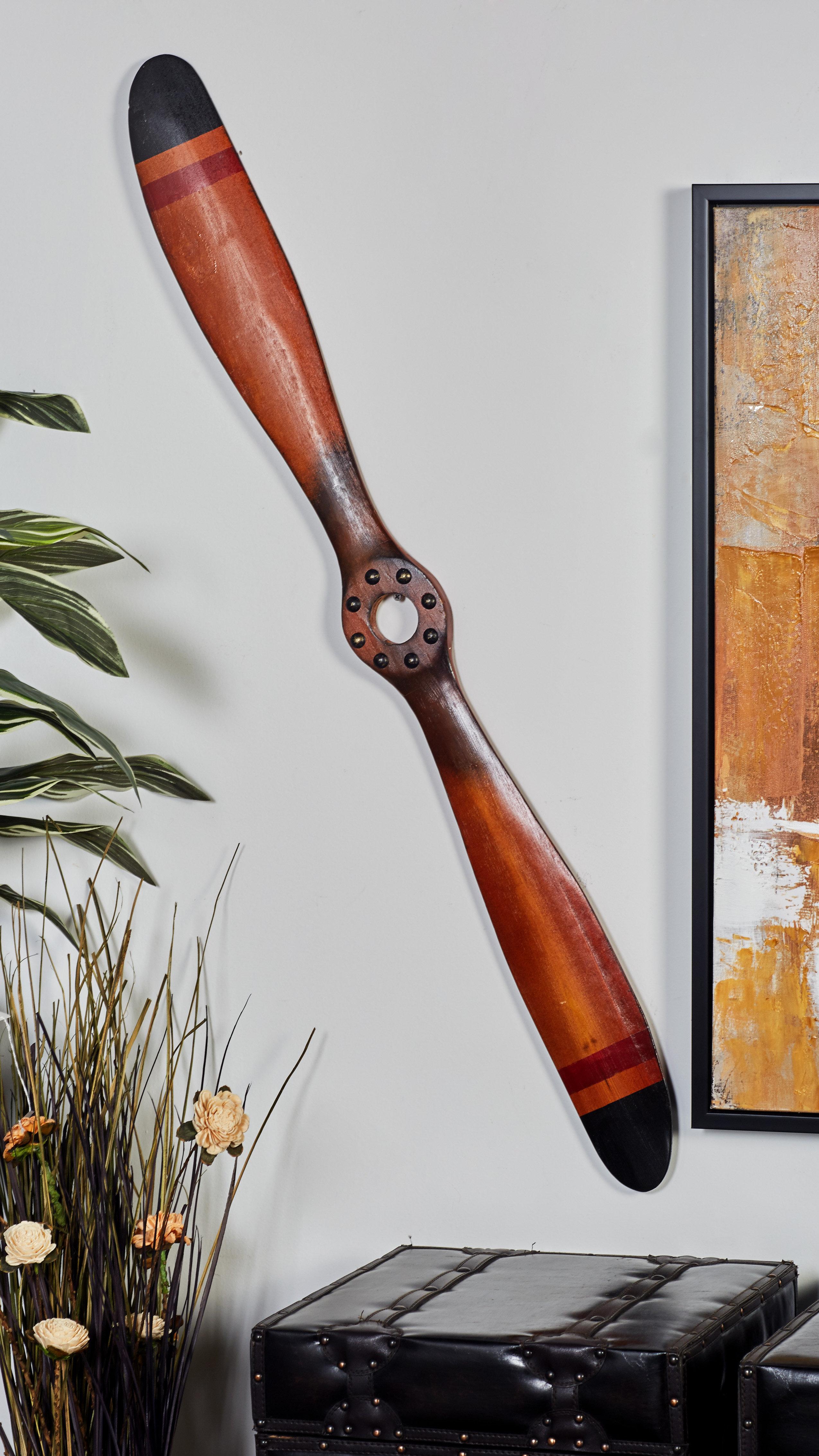 Decorative Wood Airplane Propeller Model Wall Decor Reviews Birch Lane
