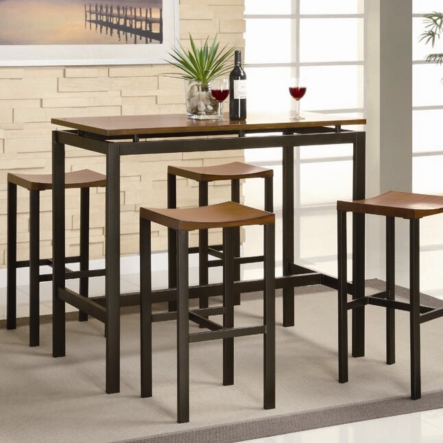 Brayden studio swigart 5 piece pub table set reviews wayfair swigart 5 piece pub table set watchthetrailerfo