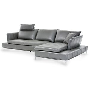 Mia Bella Lazzio Leather Sectional by Michae..