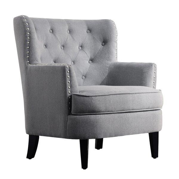 Light Grey Wingback Chair | Wayfair