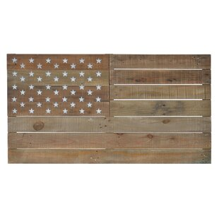 Wooden American Flag Wall Decor