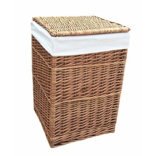 Square Wicker Laundry Basket With Lining