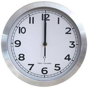 Hutcherson Radio Controlled 25.5cm Wall Clock by Metro Lane