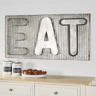 Genial Metal Industrial EAT Sign Wall Décor