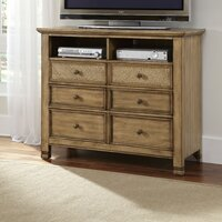 Attractive Kingston Isle 6 Drawer Media Chest