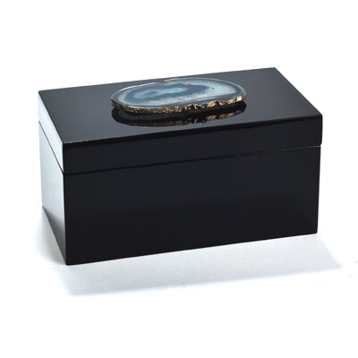 Bungalow Rose Agate Lacquered Accessory Box Size: Large
