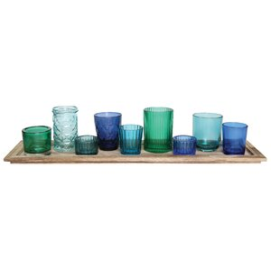 10 Piece Traditional Glass Votive Set