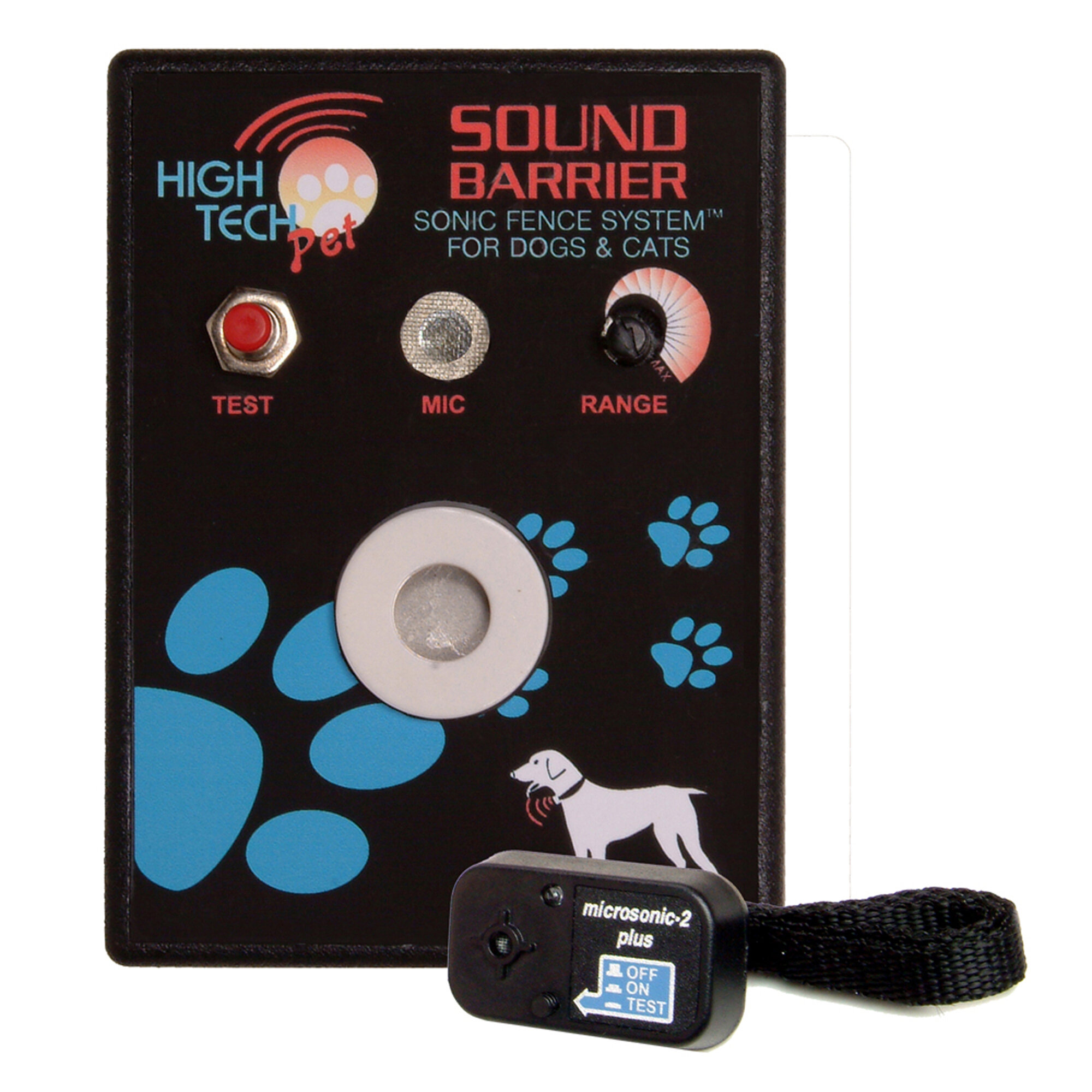 High Tech Pet Sound Barrier Indoor Sonic Pet Electric Fence ...