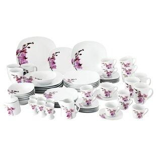 4662de1d767c Ingersoll 62 Piece Dinnerware Set with Serveware, Service for 6