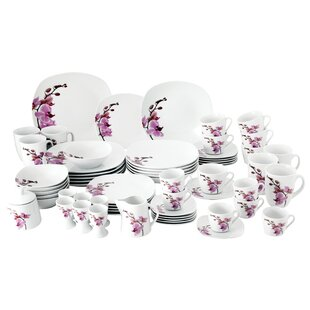 Kyoto 62 Piece Dinnerware Set with Serveware Service for 6  sc 1 st  Wayfair : dinner plate sets uk - Pezcame.Com