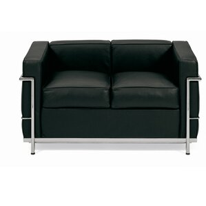 Petite Leather Loveseat by Malik Gallery Collection