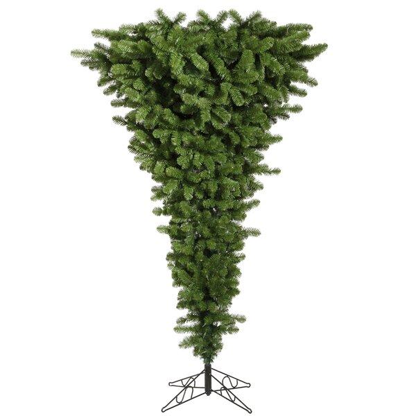 Vickerman Upside Down 7 5 Green Artificial Christmas Tree Reviews Wayfair