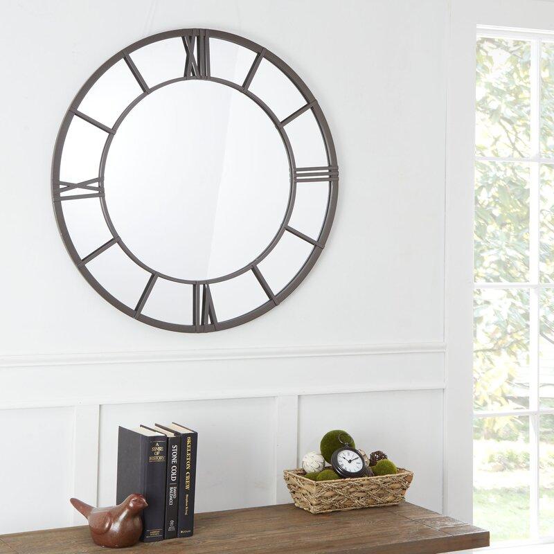 Winston Porter Mile Clock Face Frame Accent Mirror & Reviews   Wayfair