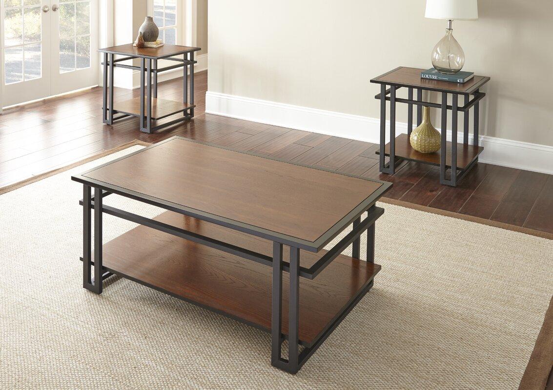 world menagerie amskroud  piece coffee table set  reviews  wayfair -  coffee table sets sku wdmg defaultname