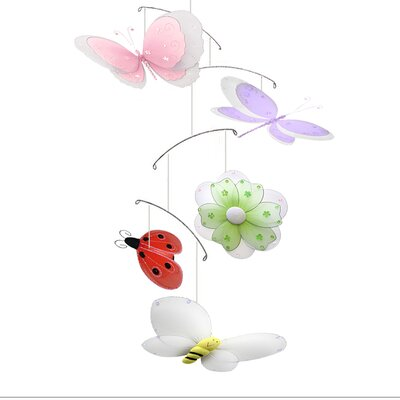 Multi-Layered Butterfly Dragonfly Ladybug Flower Bee Nylon Hanging Mobile Bugs-n-Blooms
