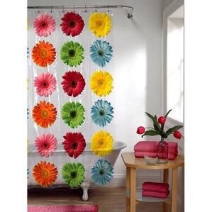 Galene PEVA Daisy Shower Curtain