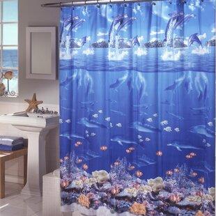 Ryann Sea Life Vinyl Shower Curtain