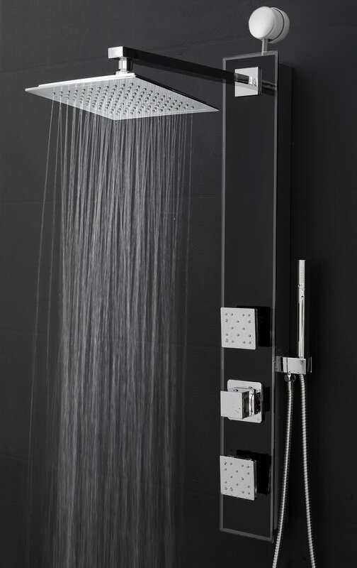 shower systems with rain head. Temperature Control Rain Shower Head Panel Systems You ll Love  Wayfair
