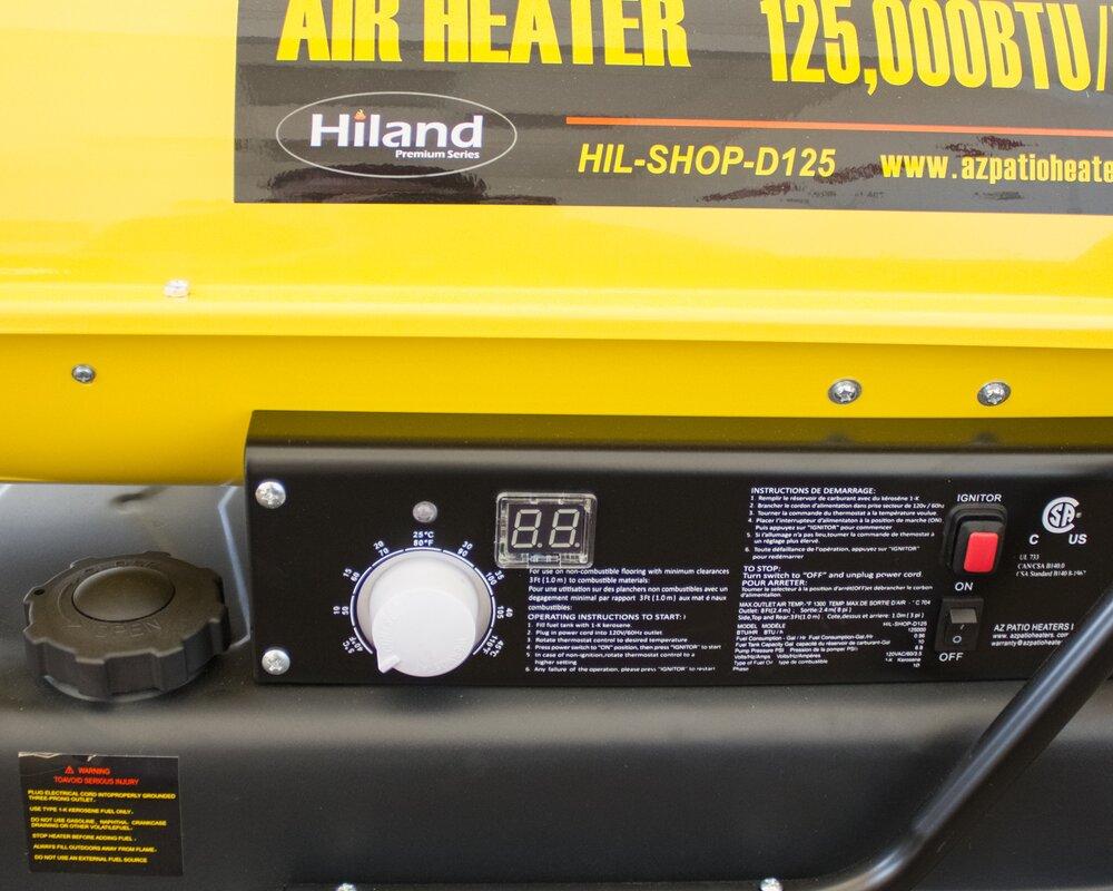 AZ Patio Heaters 125,000 BTU Diesel Forced Air Utility Heater ...