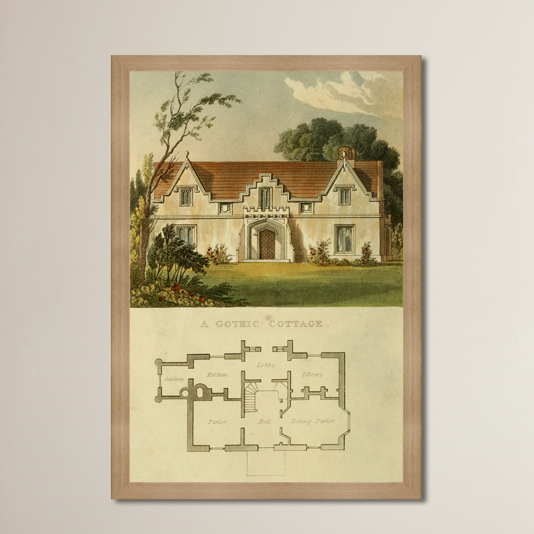 Greyleigh Gothic Cottage Framed Painting Print | Wayfair