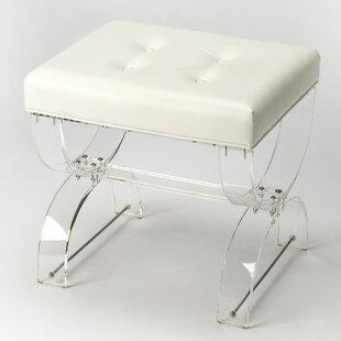 clear acrylic vanity stool wayfair rh wayfair com upholstered vanity chairs for bathroom contemporary vanity stool for bathroom